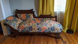 reupholstered chaise lounge chair - the chair that stole my heart - stories of petey