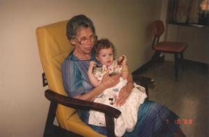 comforted by grandma - prune juice, peppermint, and memories of grandma - stories of petey