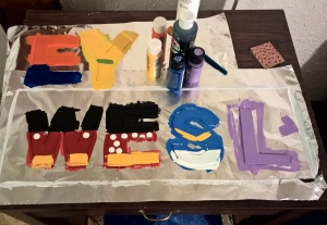 Letters Drying - A Gift of Love - Stories of Petey