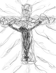 Jesus on the Cross - Family, Faith and Art - Stories of Petey