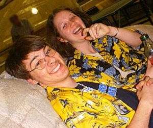 Sitting in Hawaiian Shirts - Just a Girl Holding Hands With A Boy in a Hawaiian Shirt - Stories of Petey