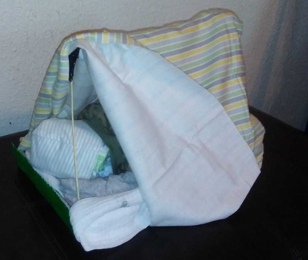 Stories of Petey - Gifts of Nature for A Special Day - Diaper Tent 2