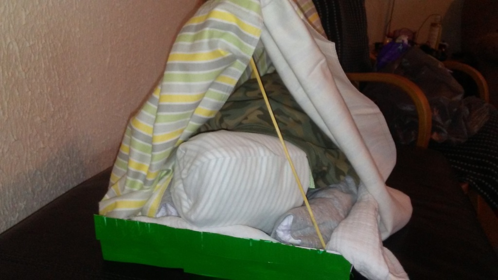 Stories of Petey - Gifts of Nature for A Special Day - Diaper Tent 1