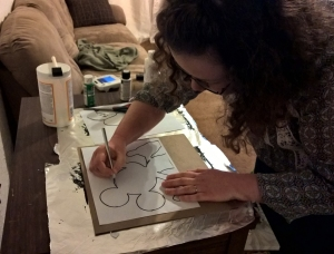 Stories of Petey - Homemade Mickey Mouse Wall Art - Cutting Shape 1