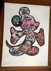 Stories of Petey - Homemade Mickey Mouse Wall Art - Final Collage Canvas